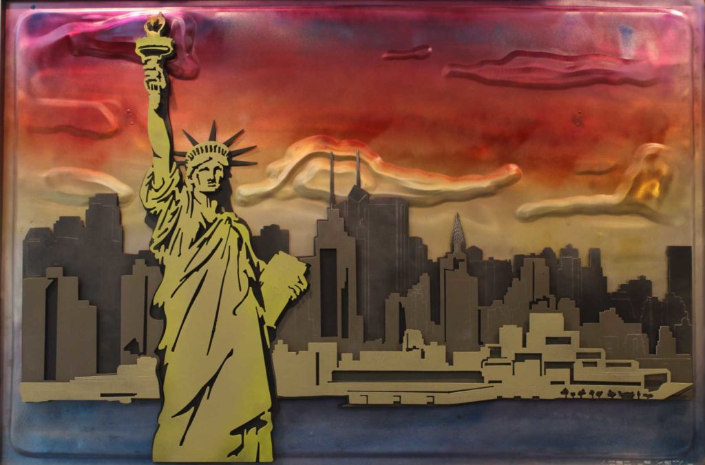 New York Skyline Metal Artwork