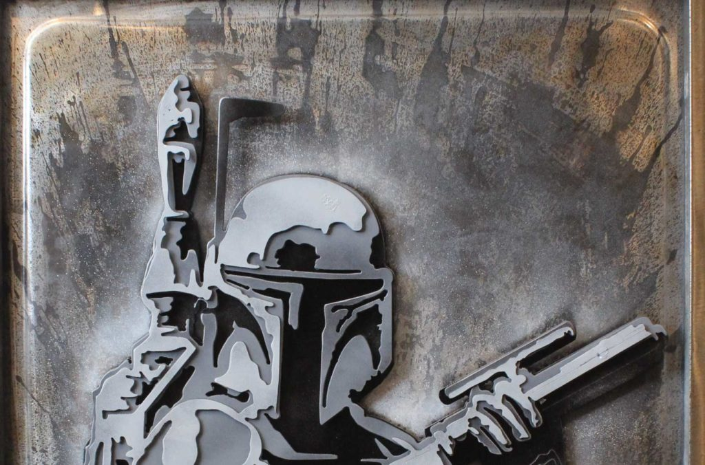 Boba Fett Metal Artwork