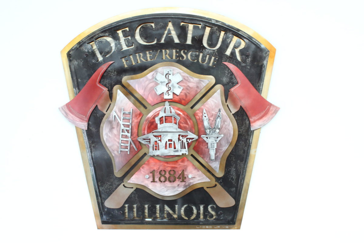 DFD2 Plaque - Public Service Pieces, Laced Up Metal Wall Art