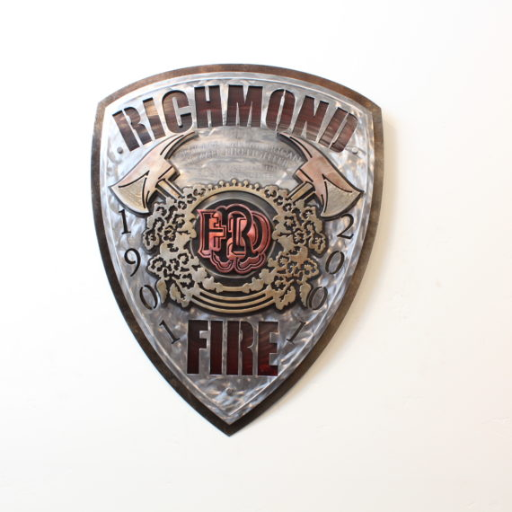 RFD Plaque - Public Service Pieces, Laced Up Metal Wall Art