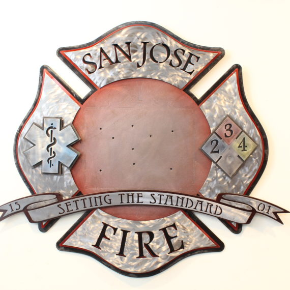 SJFD Plaque- Public Service Pieces, Laced Up Metal Wall Art