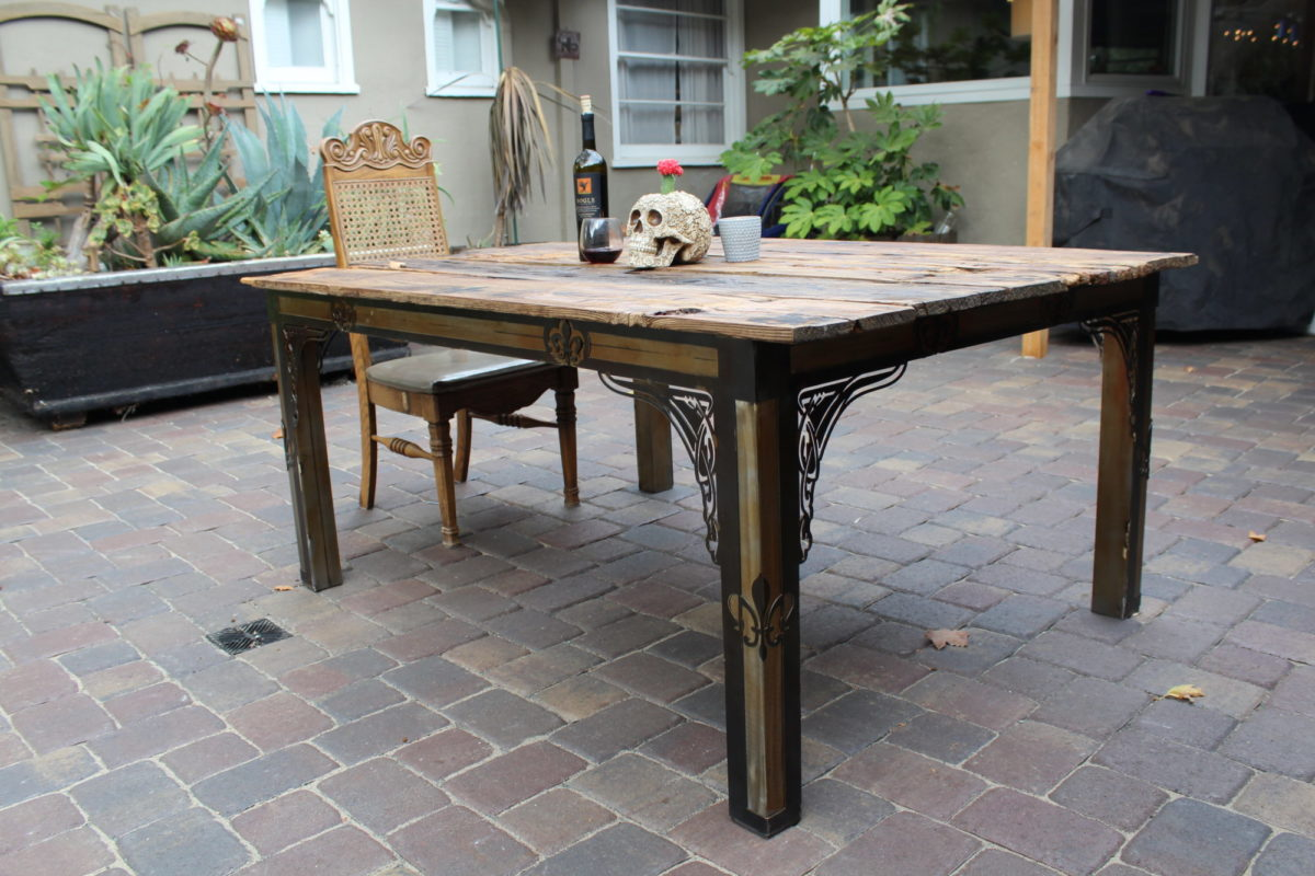 Fence Board Table, Furniture - Laced Up Metal