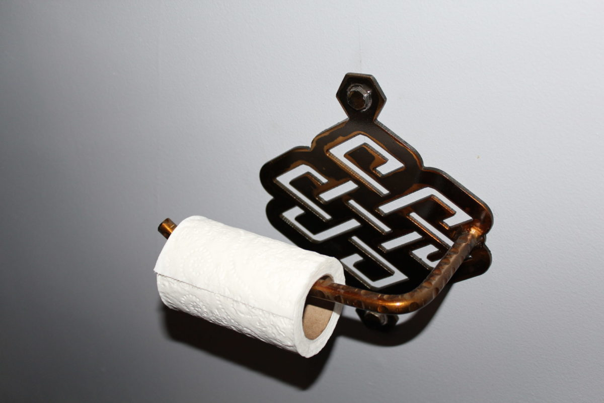 Toilet Paper Holder, Furniture - Laced Up Metal