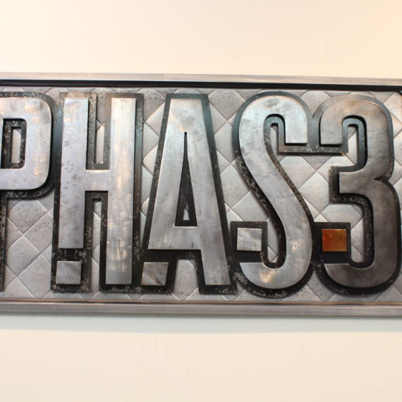 Phase3 Business Sign - Laced Up Metal