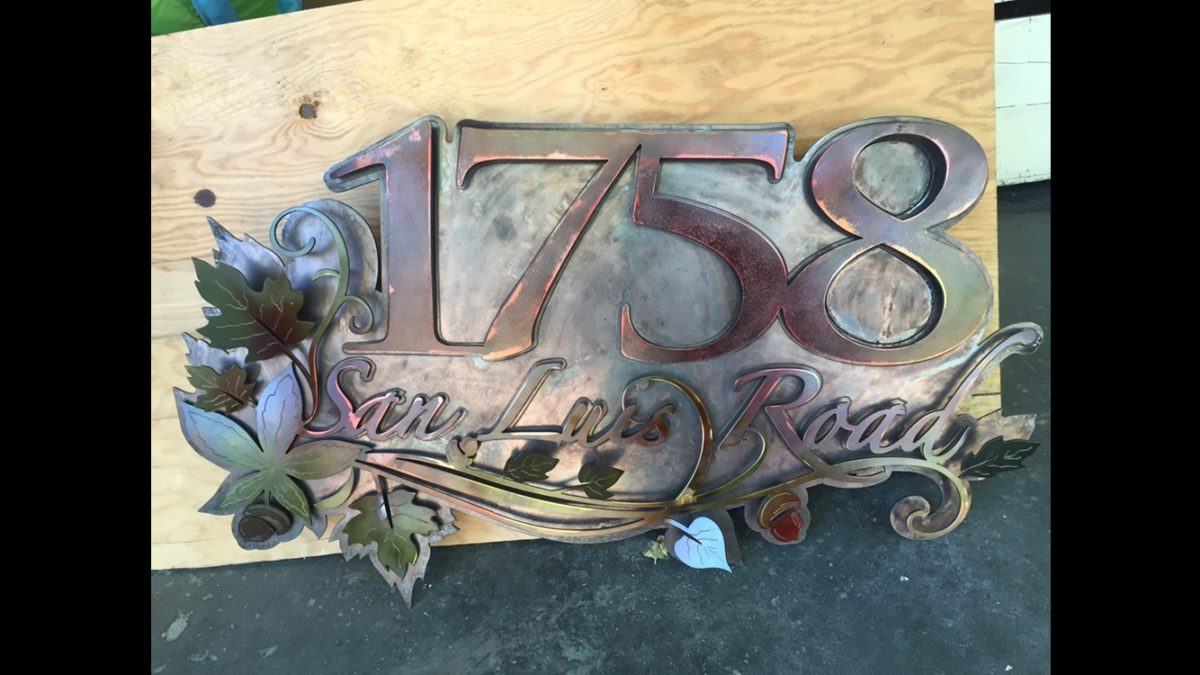 Address Sign, Miscellaneous Metalwork - Laced Up Metal