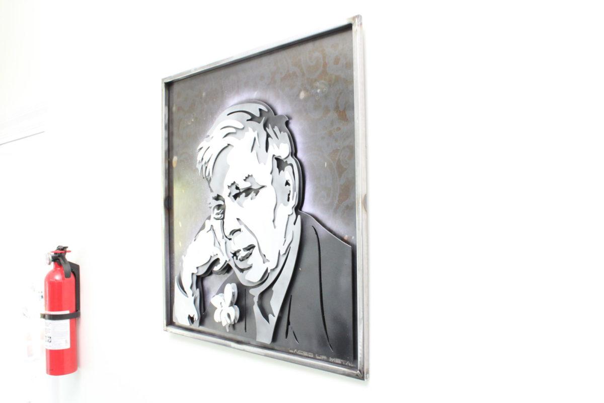 Stevens - Custom Portraits, Laced Up Metal Wall Art
