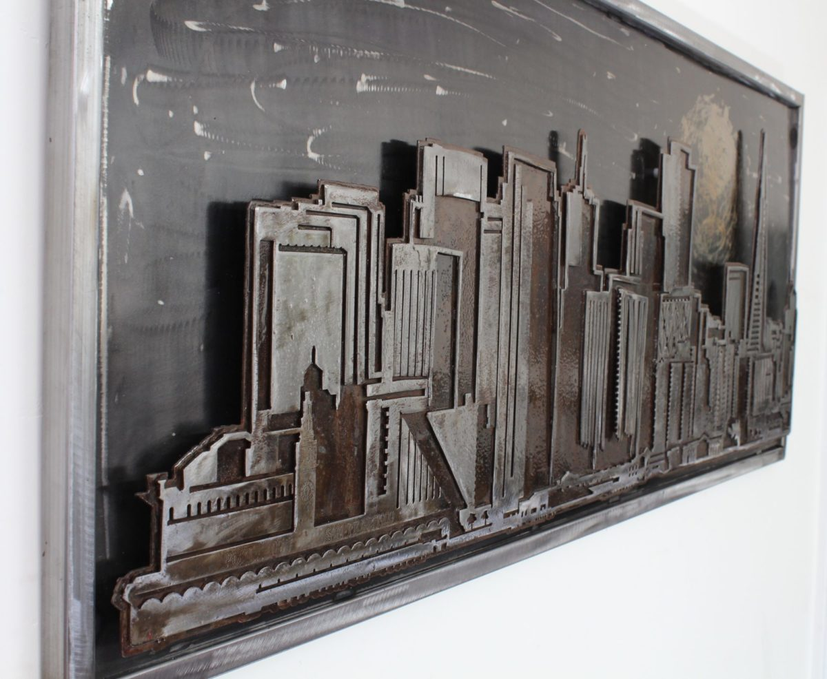 San Francisco Skyline - Laced Up Metal