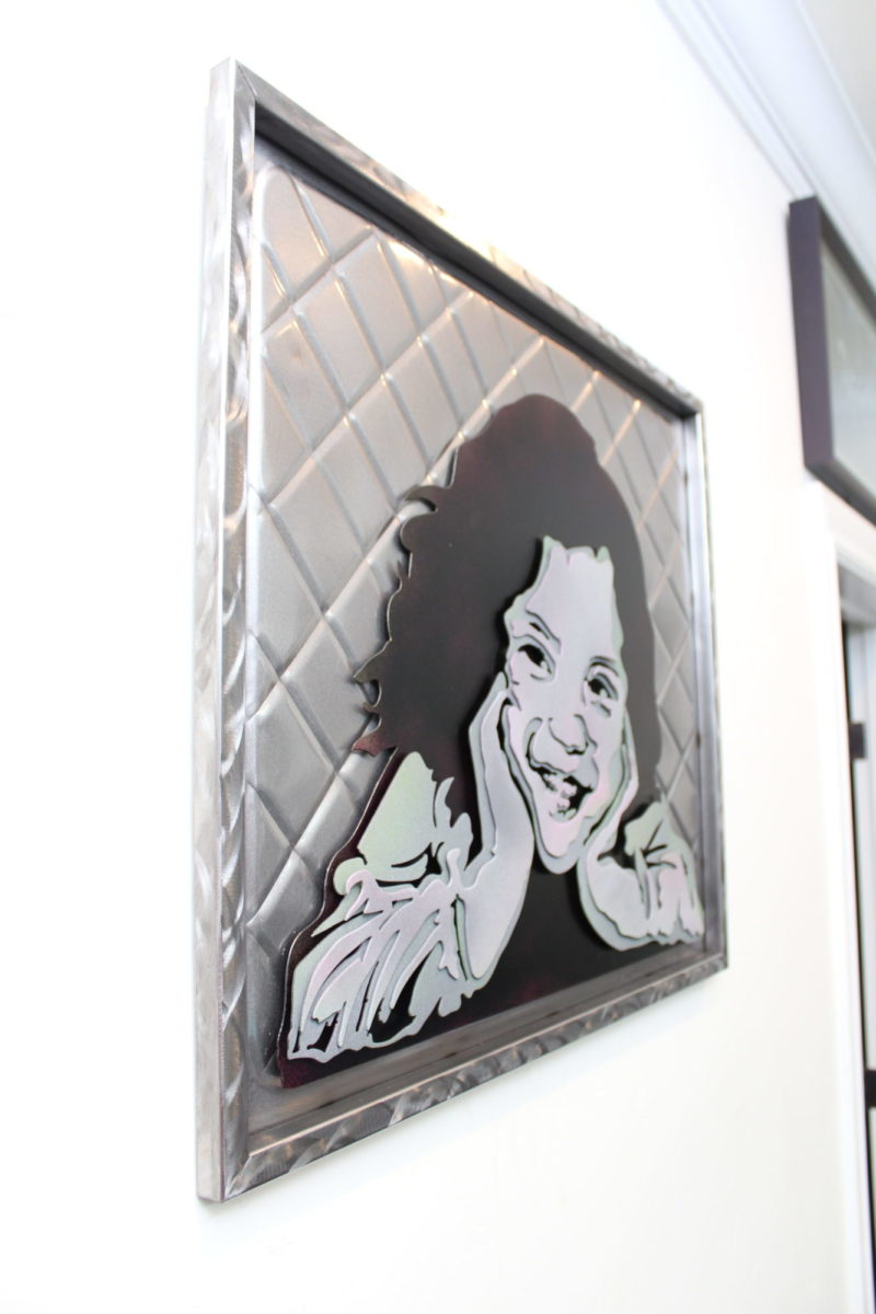 Ariel - Custom Portraits, Laced Up Metal Wall Art