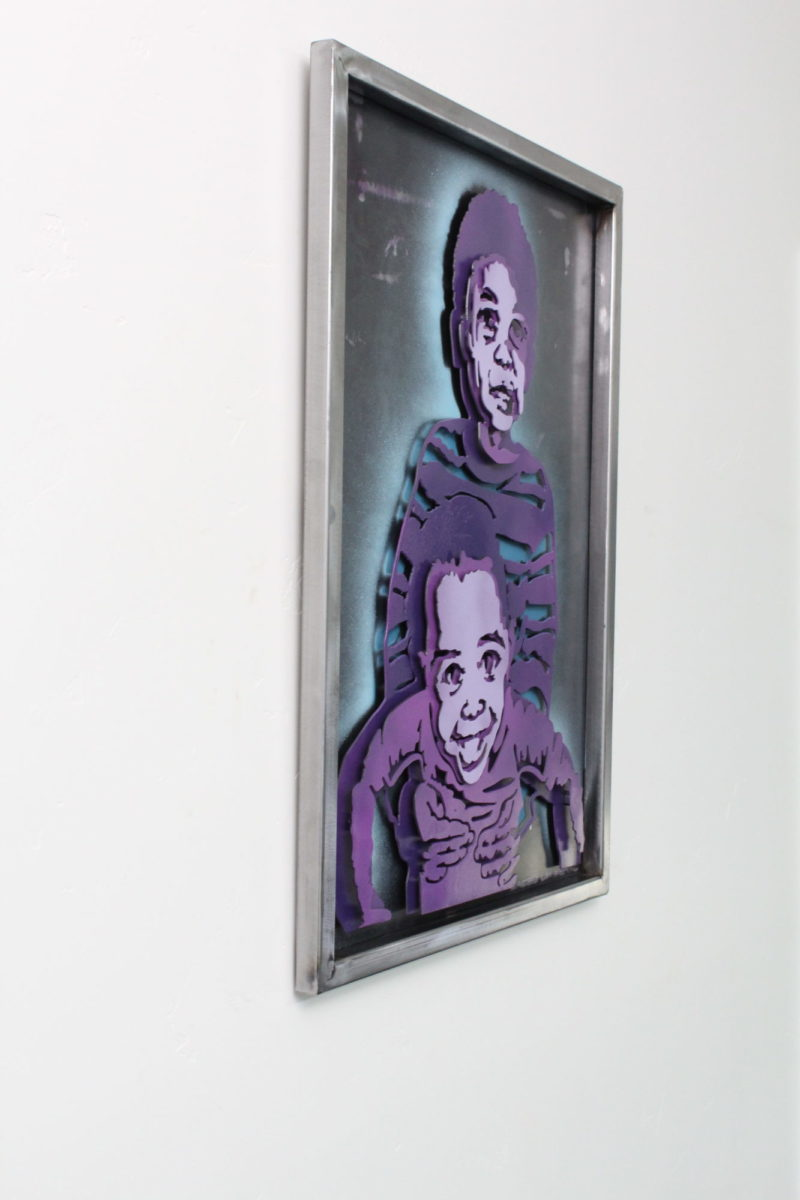 Dante's Kids - Custom Portraits, Laced Up Metal Wall Art