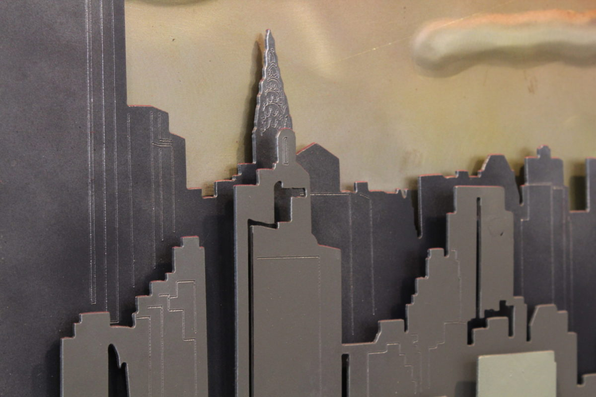 New York Skyline - Laced Up Metal