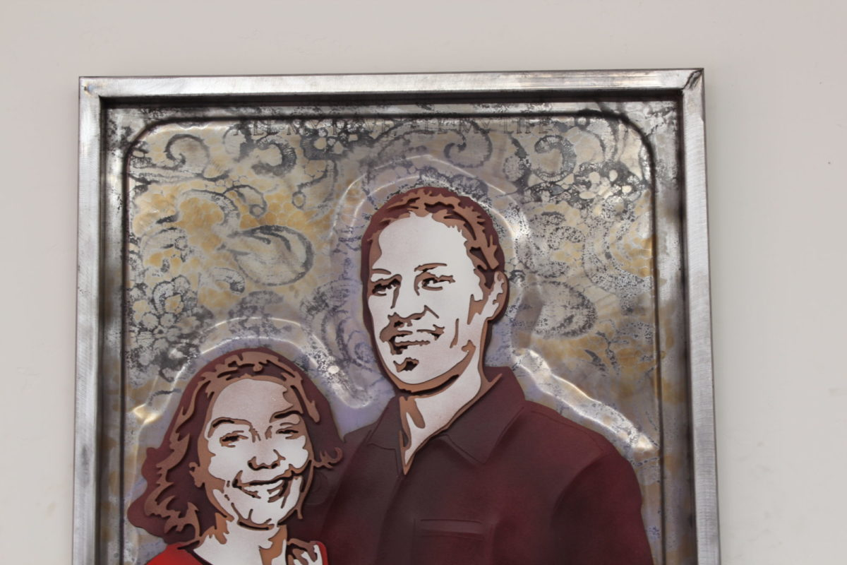 Booth - Custom Portraits, Laced Up Metal Wall Art