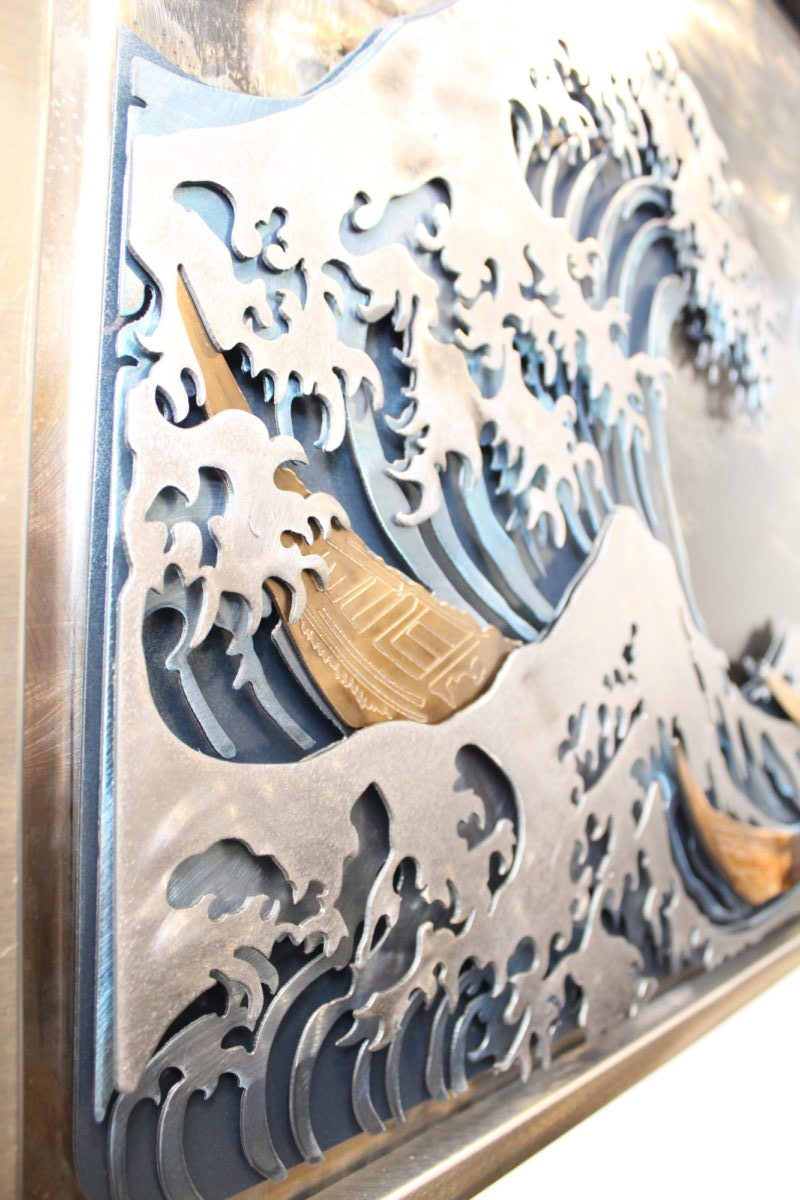 Classics Great Wave, Laced Up Metal Wall Art