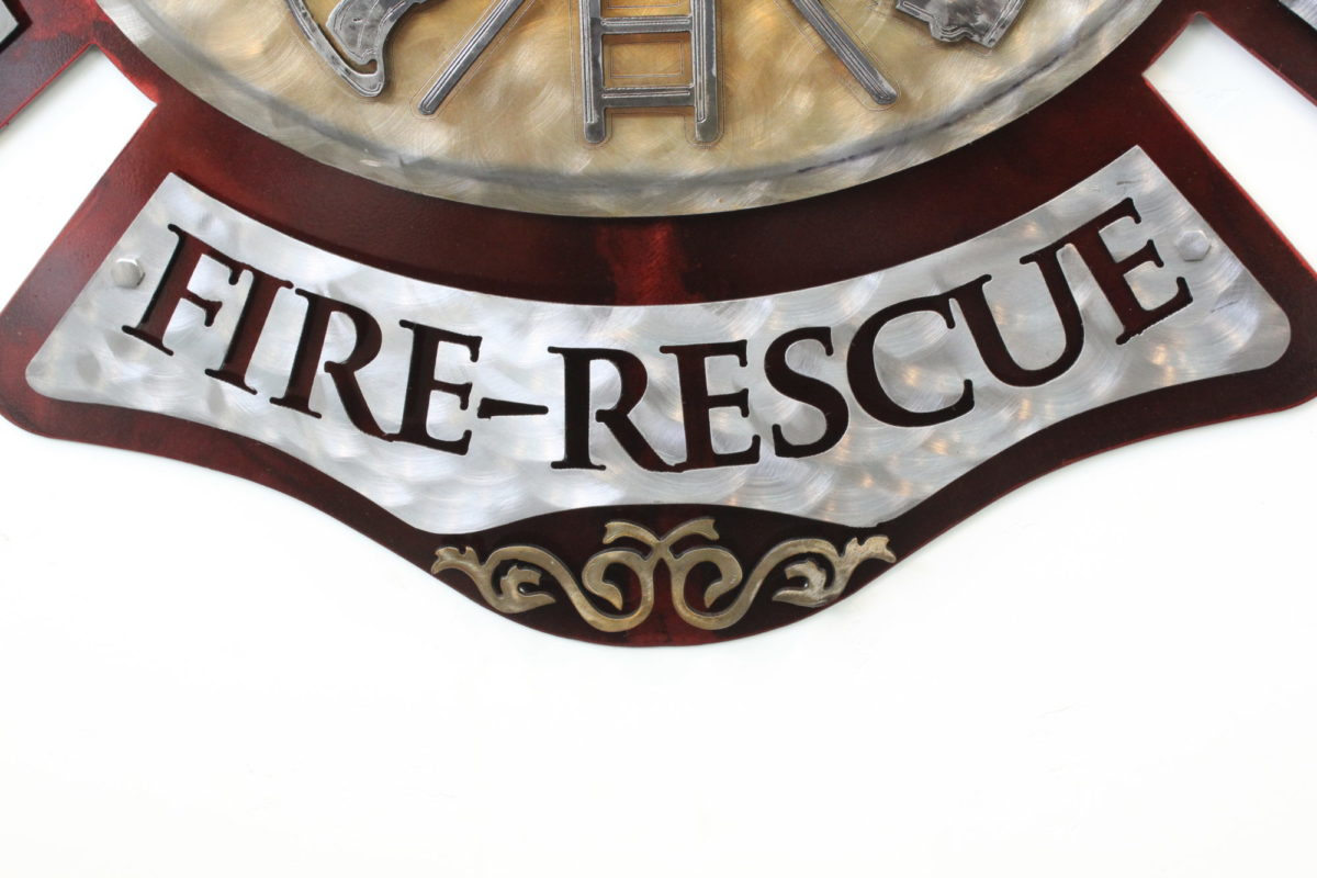 DFD1 Plaque - Public Service Pieces, Laced Up Metal Wall Art