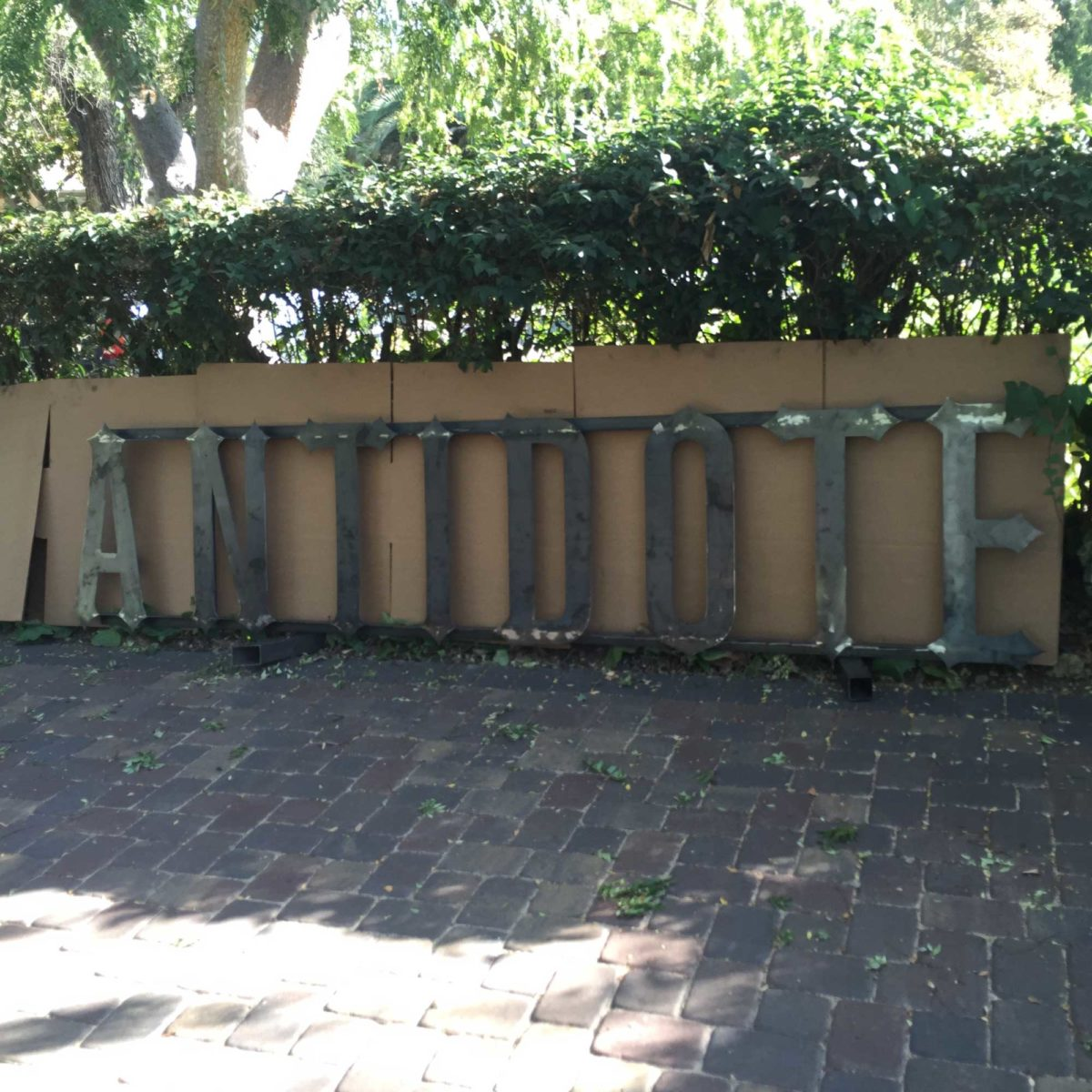 Antidote Juicery Business Sign - Laced Up Metal