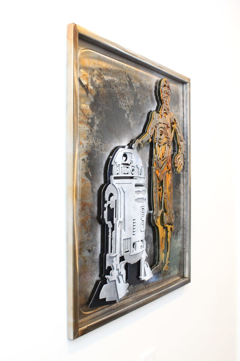 Star Wars C3PO, Laced Up Metal Wall Art