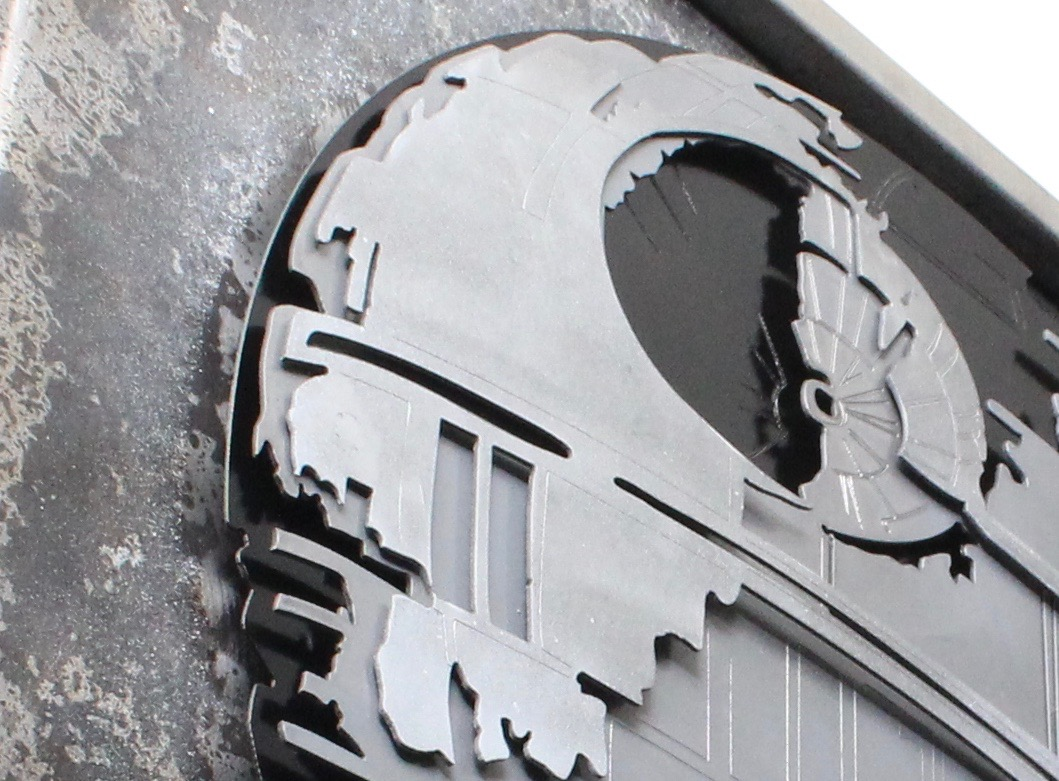 Star Wars Death Star, Laced Up Metal Wall Art
