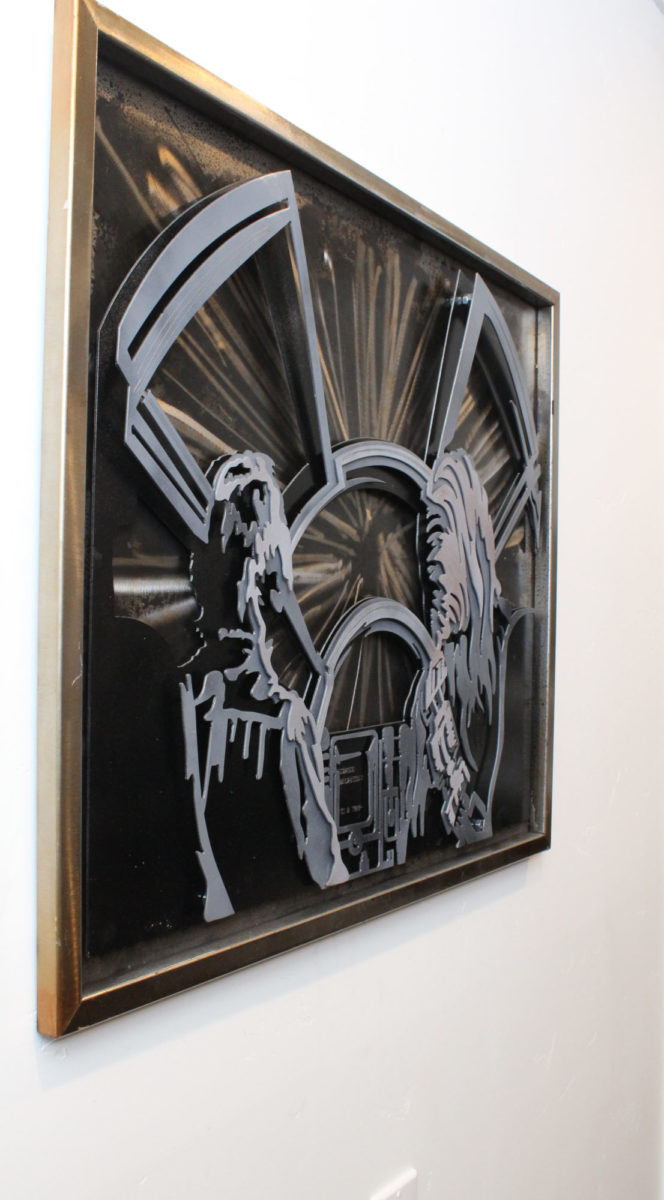 Star Wars Hyper Drive, Laced Up Metal Wall Art